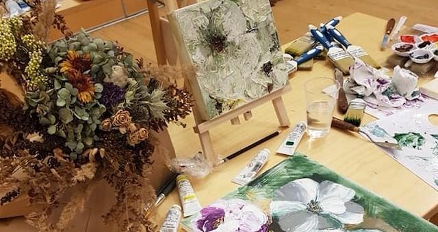 Höstweekend - Skapa med blommor som tema