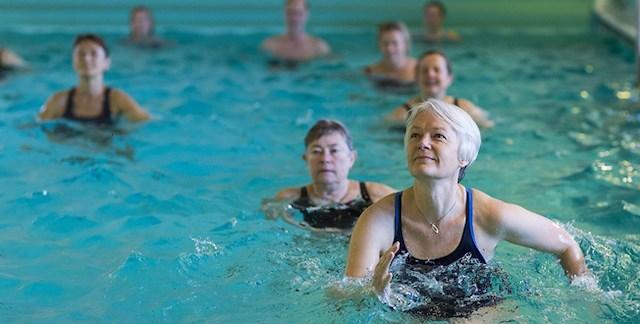Hälsohelg 9-12 jan. Vattenträning