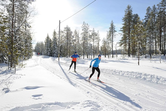 Weekend cross country skiing