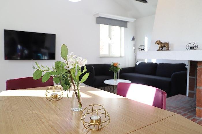 Villa Gnistan, en dubbelsäng och en dubbel bäddsoffa