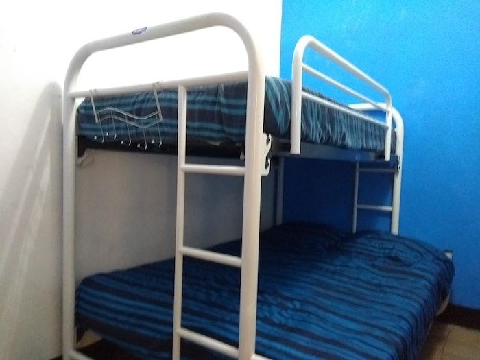 Triple Room with Shared Bathroom (1 bunk bed, 1 double bed and single bed)