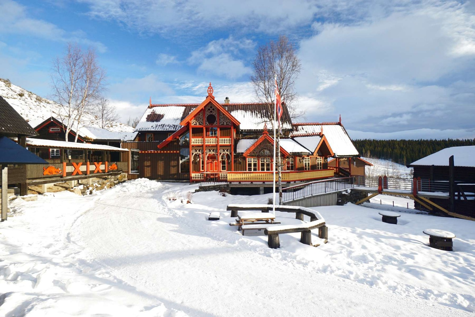 Eventyrgarden Huso in Hemsedal. Cabins/apartments.